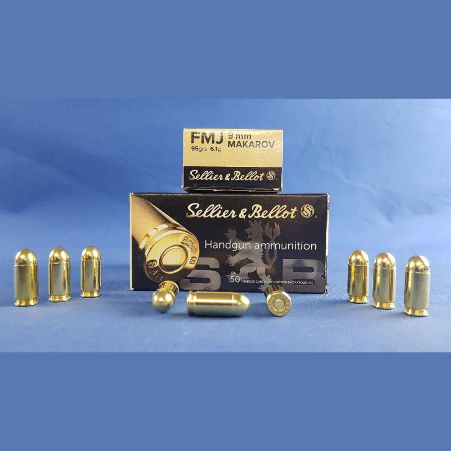 Sellier&Bellot 9mm Makarov FMJ 95grs 6,1g