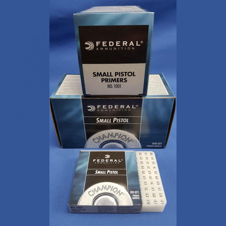 Federal Small Pistol Primers 1001