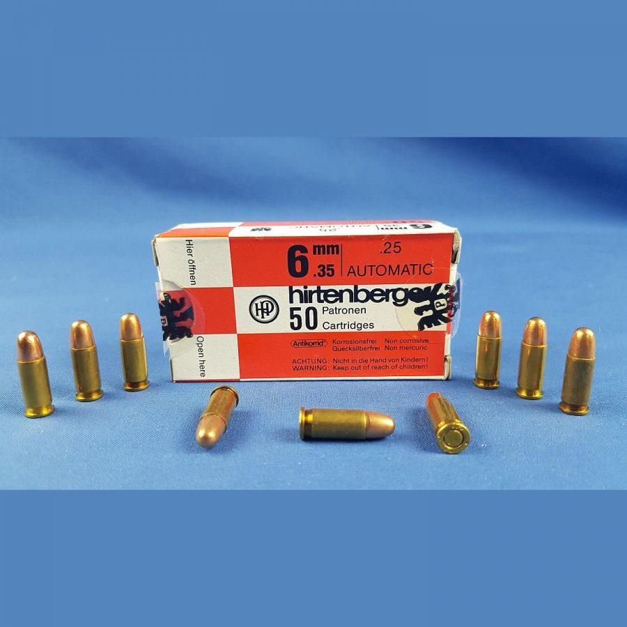 Hirtenberger 6,35mm Browning 3,2grs
