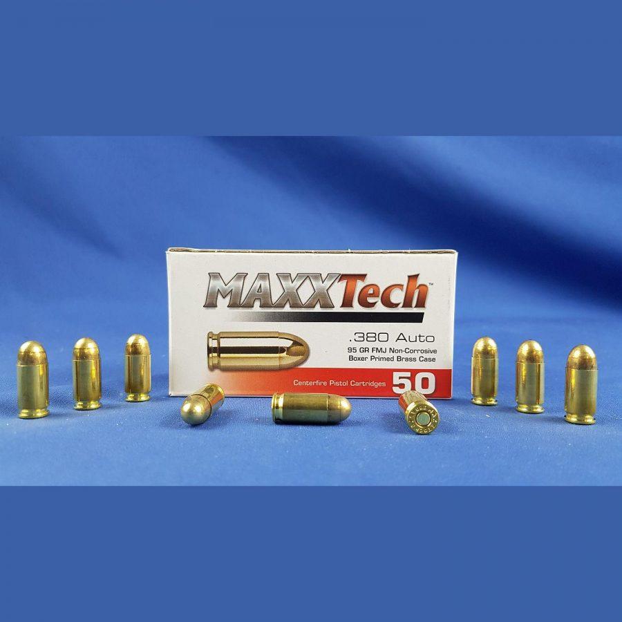 MaxxTech .380 Auto FMJ 95grs