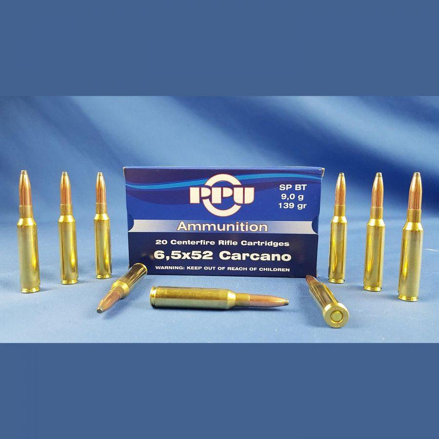 PPU 6,5×52 Carcano SP BT 139grs 9g