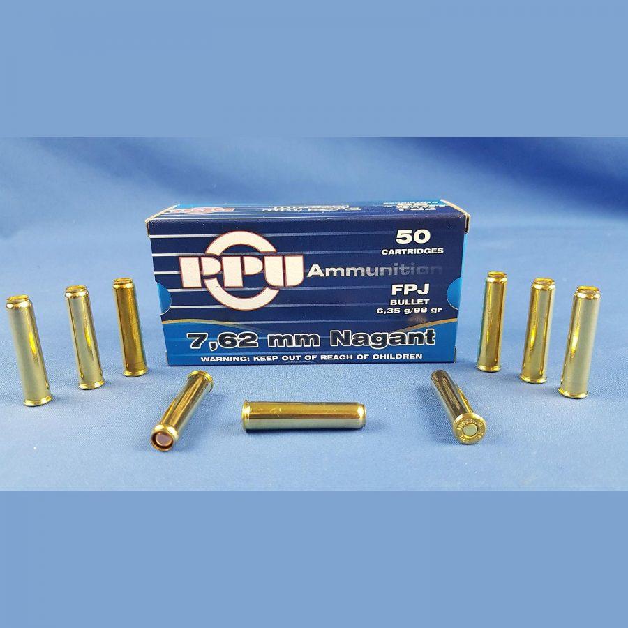 PPU 7,62mm Nagant FPJ 6,35g 98grs