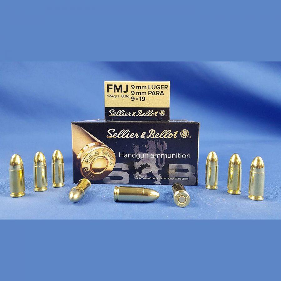 Sellier&Bellot 9×19 FMJ 124grs 8,0g