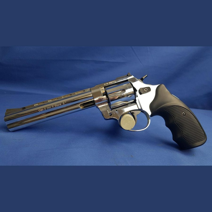 Zoraki Schreckschuss Revolver Mod. R1 TD 9×6 P.A.K. Shiny Chrome, Kal. 9mm Platz