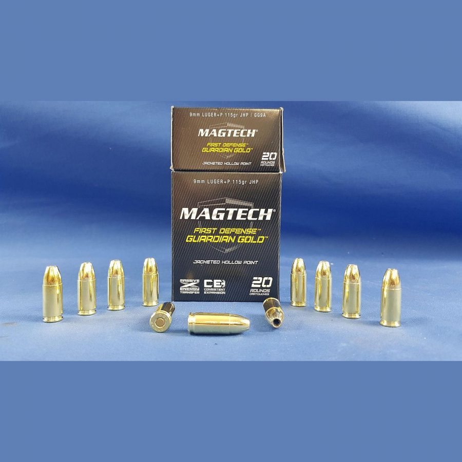 Magtech First Defense Gliardian Gold 9mm Luger Jacketed Hollow Point