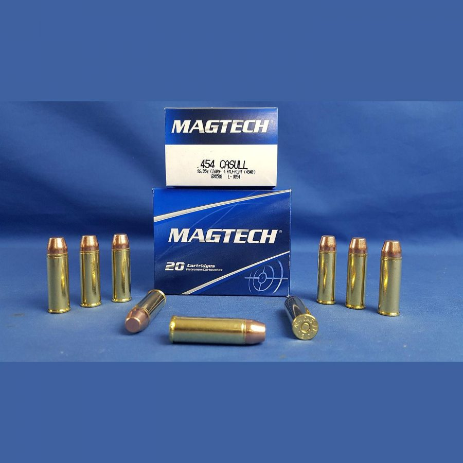 Magtech .454 Casull Vollmantel Flachkopf 260grs. 16,95g