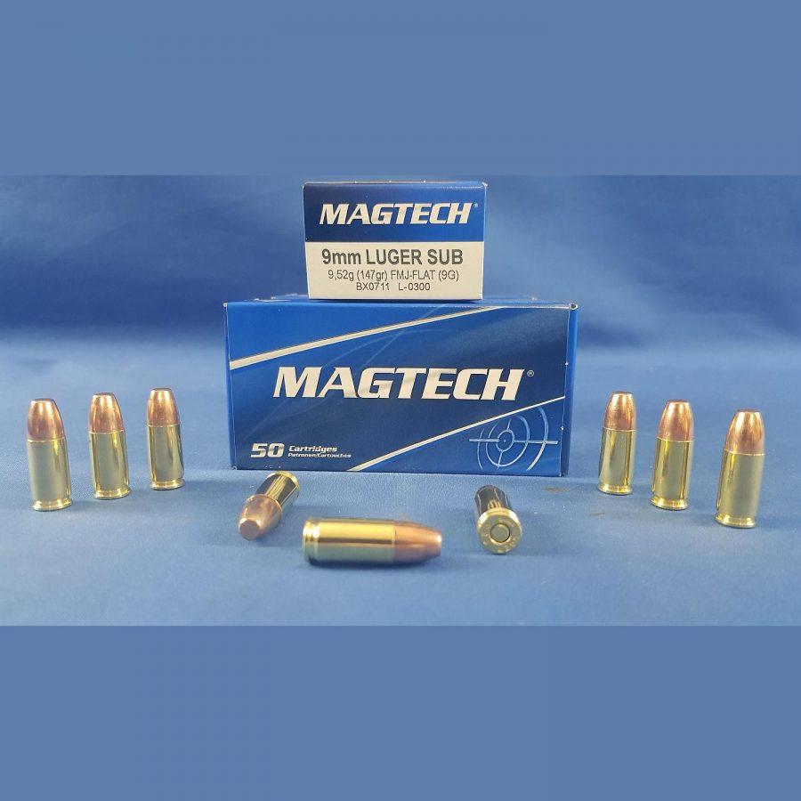 Magtech 9mm Luger Subsonic 9,52g 147grs.