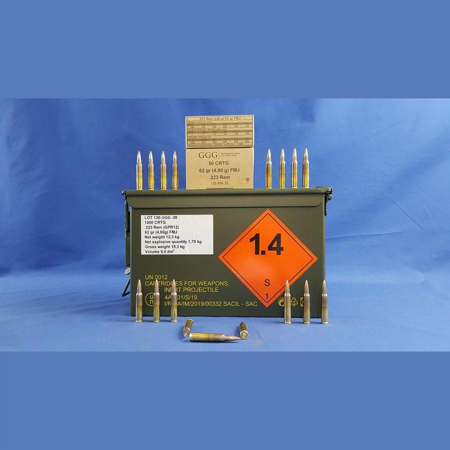 GGG .223Rem 62grs 4,00g in der M2A1 Nato Box