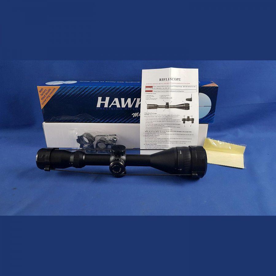 Hawke IR 3-12×50 mit Montageringe