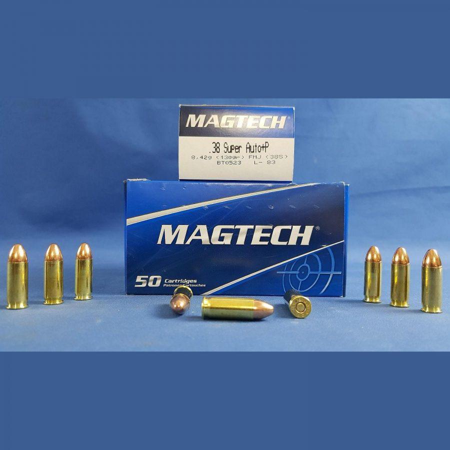 Magtech .38 Super Auto+P FMJ 8,4g/130grs.