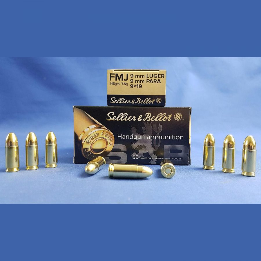Sellier&Bellot 9mm Luger FMJ 7,5g/115grs.