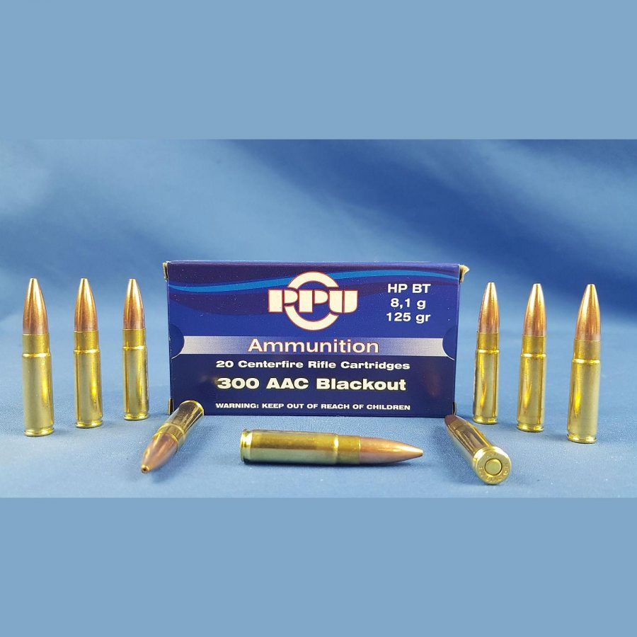 PPU 300 AAC Blackout HPBT 125grs 8,1g
