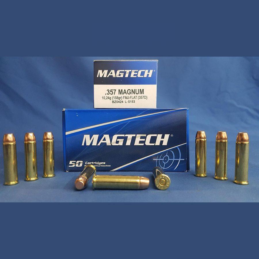 Magtech .357 Magnum Vollmantel Flachkopf 10,2g/158grs.