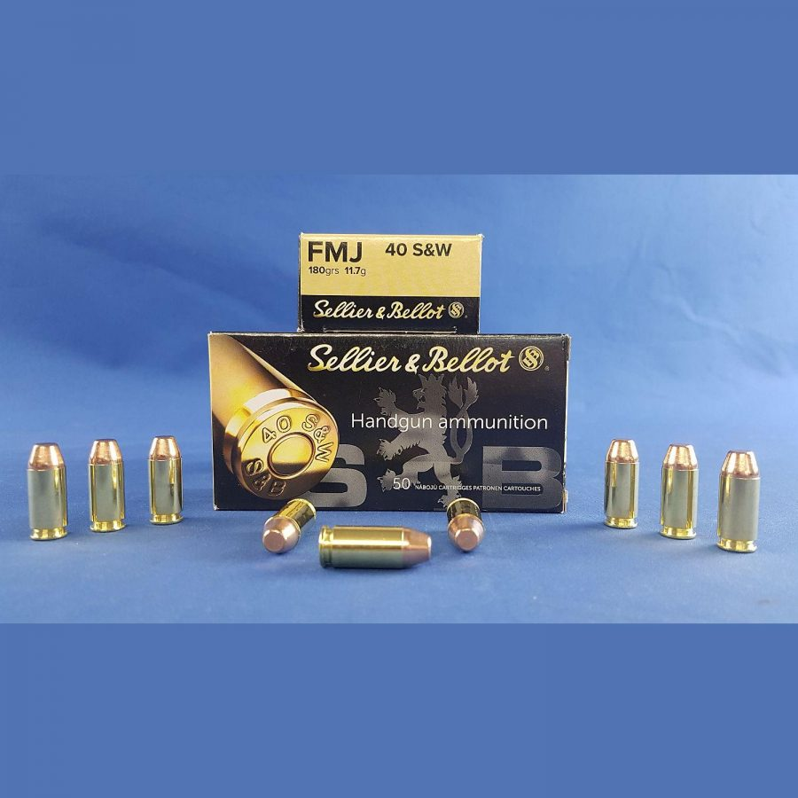 Sellier&Bellot .40 S&W FMJ 11,7g/180grs.