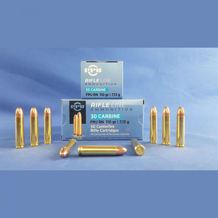 PPU .30 Carbine FMJ RN 110grs 7,13g
