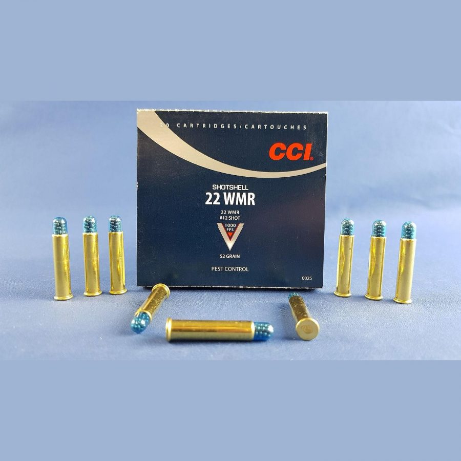 CCI .22 Win. Mag. Randzünder-Schrotpatronen 1,27mm 2,0g/31grs.