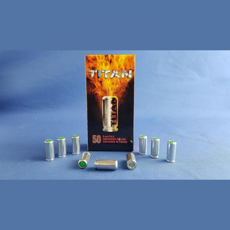 Perfecta Knallpatronen Titan 9 mm P.A. 50Stk