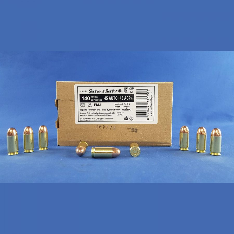 Sellier&Bellot .45 ACP FMJ 14,9g/230grs.