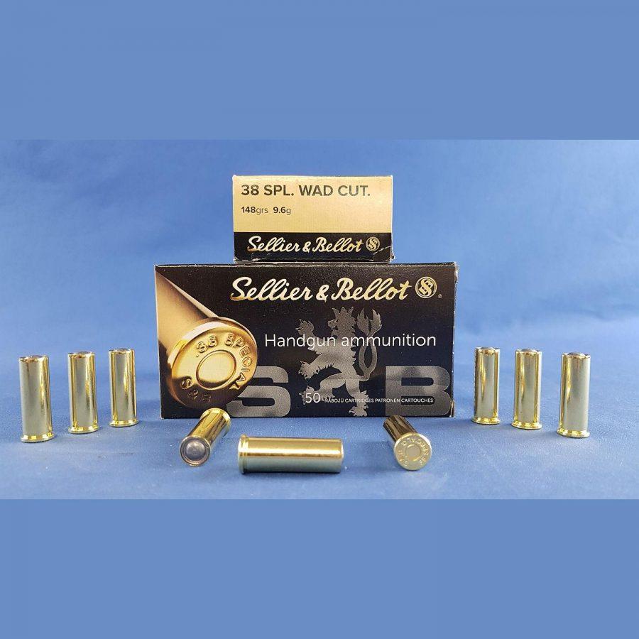 Sellier&Bellot .38 Spec. Wadcutter 9,6g/148grs.