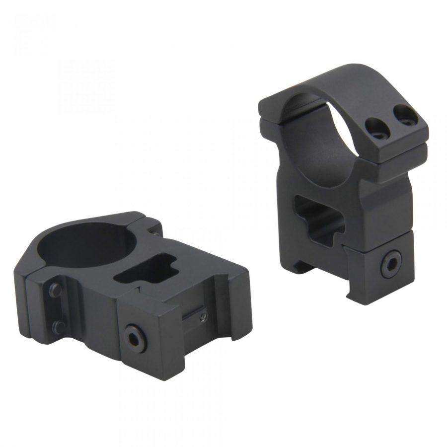 HJB Zielfernrohr Qualitäts Montagesatz (2-teilig) Aluminium DM 30mm für Picatinny/Weaver