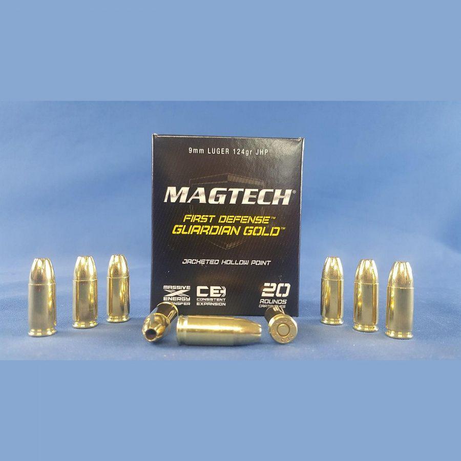 Magtech 9 mm Luger Guardian Gold JHP 8,0g/124grs.