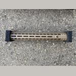 Original AERO PRECISION AR10/M5 M5 15″ Enhanced M-LOK Handguard, Gen 2 – FDE Cerakote (w/ DPMS Barrel Nut) .308Win.
