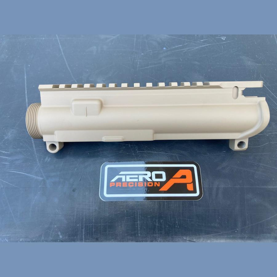 Original AERO PRECISION AR15 Stripped (leer) Upper Receiver – FDE Cerakote