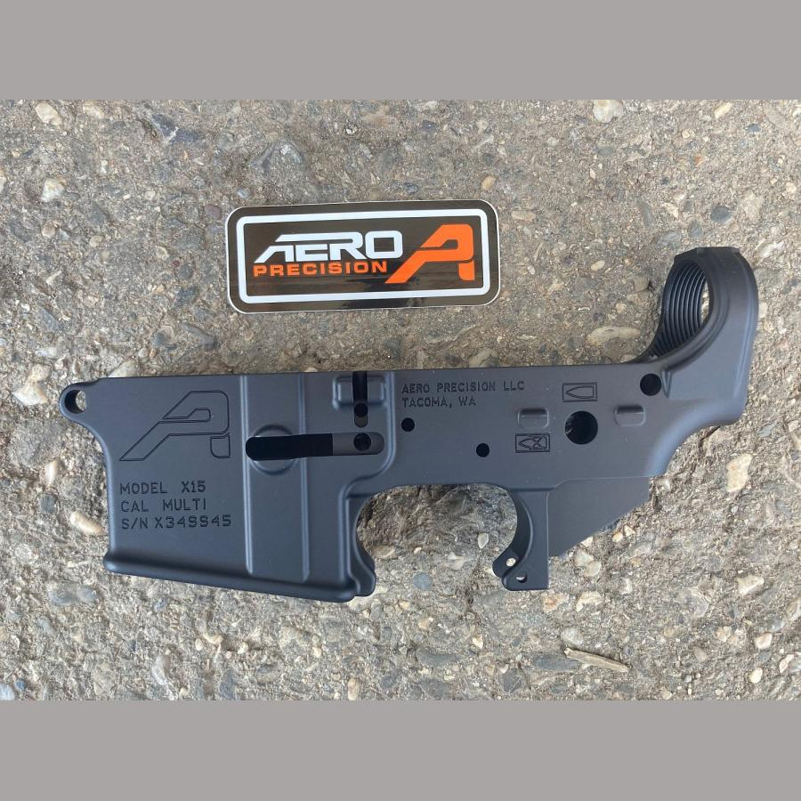 Original AERO PRECISION AR15 Stripped (leer) Lower Receiver, Gen 2 – BLK