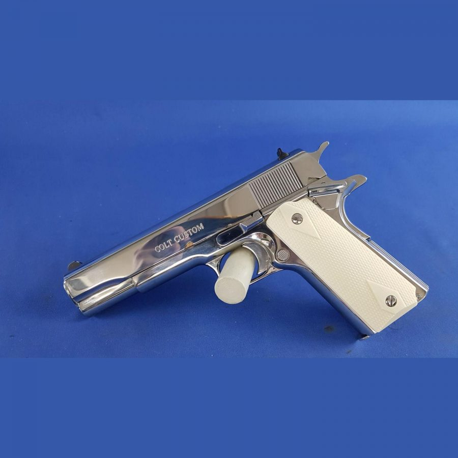 Pistole Colt 1911 Bright Stainless Government Kal. 45Auto Rarität