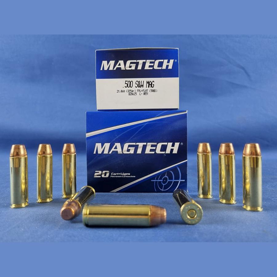 Magtech .500 S&W FMJ Flachkopf 21,0g/325grs.