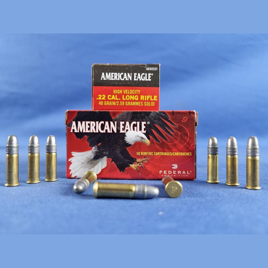Federal Ammunition .22 lfb. American Eagle HV Solid 2,6g/40grs.
