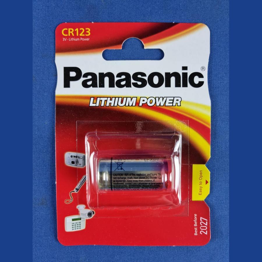 Panasonic CR123A 3V Photo Power Lithium Batterie