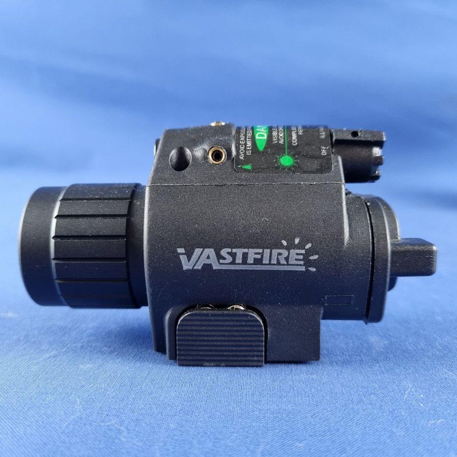 LED Tactical Combo-Taschenlampe mit grünen Laserstrahl 20mm Picatinny-Schiene-Montage