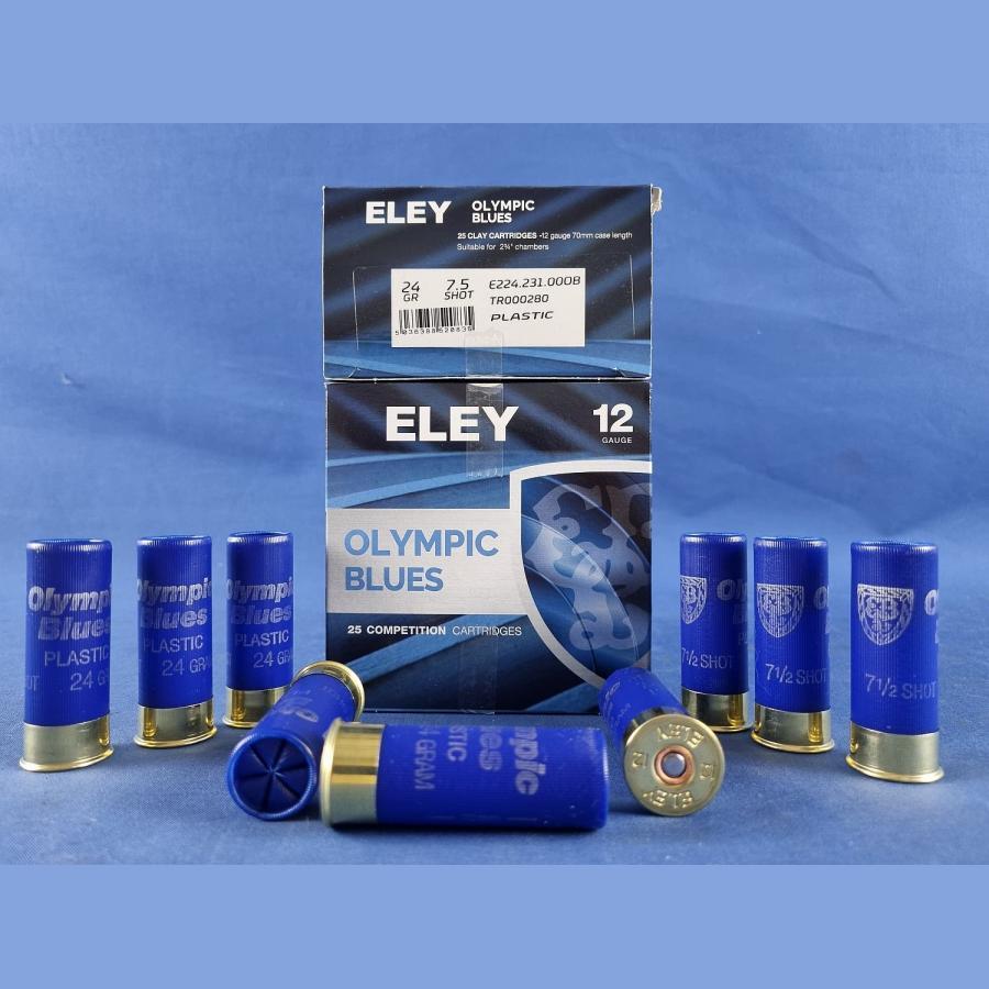 ELEY Olympic Blue Plastic Kal.12/70 24g 2,3g 1000 Schuss