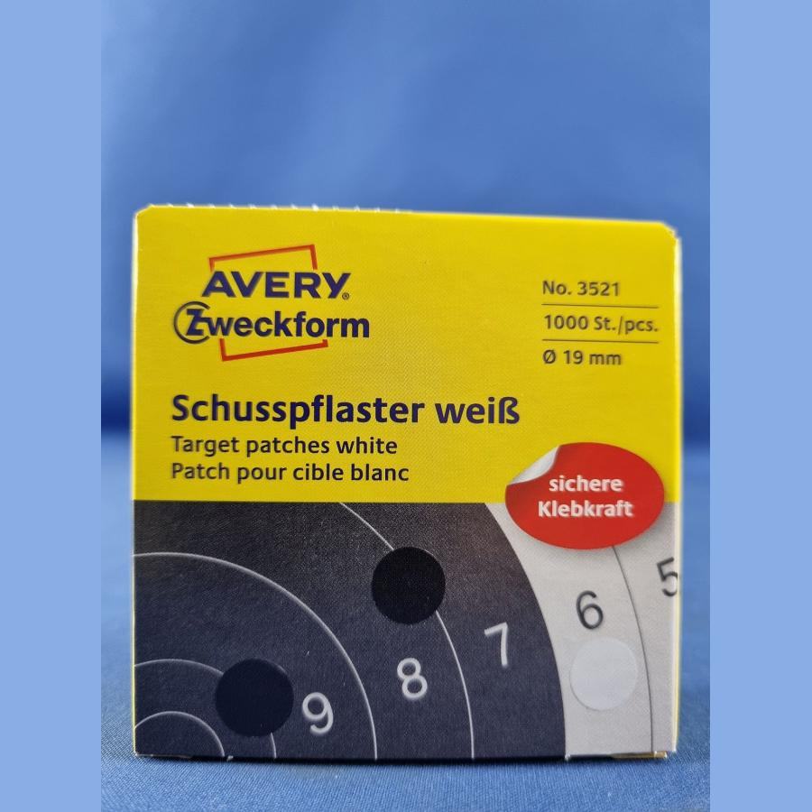 Zweckform Schusspflaster – 19 mm weiss, 1000 Stück