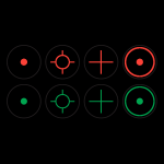 KONUSIGHT Red/Green Dot